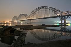 home (PawL23) Tags: sagaing myanmar mandalay ayeyarwady irrawaddy reflection silhouette newavabridge bridge dawn sunrise bamboohouse asia burma