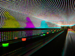 Moving walkway (Harris shutter effect) (Thiophene_Guy) Tags: thiopheneguy sp550uz originalworks colour colors colours rainbow color surreal thsfeset harrisshutter effect rainbowcolors kinetic dynamic dynamism action motion movement aleatoric