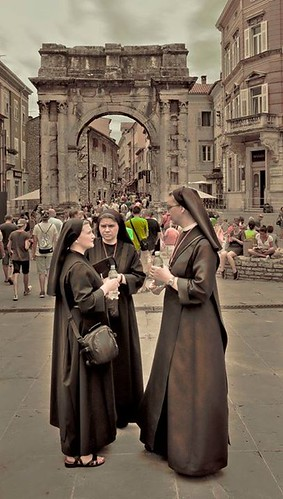 Nuns on a cultural journey #Nicospecial.de #Nicospecial #Nuns #NunsOnTheStreet #Nunspecial #FullLength #Religion #Adult #TraditionalClothing #History #AdultsOnly #Men #LargeGroupOfPeople #People #Parade #Celebration #TravelDestinations #OnlyMen #RealPeopl