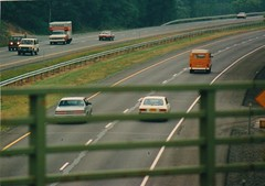 INTERSTATE 87 IN JULY 1986 (richie 59) Tags: ulstercountyny ulstercounty newyorkstate newyork unitedstates fordmotorcompany trees automobiles autos motorvehicles vehicles generalmotors buick interstatehighway cars america outside volkswagen summer townofrosendaleny townofrosendale newyorkstatethruway thruway interstate87 nythruway oldphotograph olddays oldpicture oldphoto film july191986 july1986 1986 photoscan filmcamera filmphotography i87 photograph photo 1980s hudsonvalley midhudsonvalley midhudson us usa 4lane fourlane 4lanehighway fourlanehighway dividedhighway highway superhighway freeway road grass microbus guardrail uhaul uhaultruck