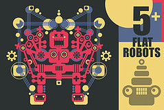 Robots illustrations for sale (panova-panova) Tags: robot monster creature vector machine robots set collection isolated vintage retro future cartoon graphic design game technology poster futuristic space cyborg fiction fantastic electronics flat style toy tshirt print label illustration simple electric android website icon pattern funny cute creativemarket