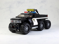 Police Pickup Truck (LEGO 7) Tags: police pickup truck lego moc car