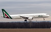 I-BIXM Alitalia Airbus A321-100 (findel24) Tags: alitalia airbus a321 landing runway 13r budapest ferihegy lisztferenc airport cargodomb cargohill winter fog italia