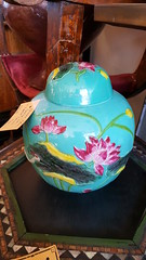 "CHINESE CERAMIC GINGER JAR WITH LID.  $95. • <a style=""font-size:0.8em;"" href=""http://www.flickr.com/photos/51721355@N02/27865662979/"" target=""_blank"">View on Flickr</a>"