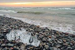 ice (popov sin) Tags: sunrise morning lake ontario ice winter nikon d3000