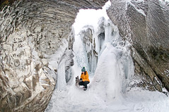 Frozen (Grant Mattice Photography) Tags: grantmatticephotography yohonationalpark naturalbridge kickinghorseriver britishcolumbia explorecanada explorebc frozenwaterfalls arcteryx canada