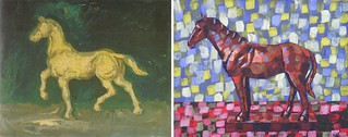 Plaster Statuette of a Horse by Van Gogh 1886 and Anthony D. Padgett 2017