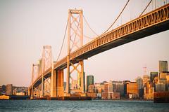 I'm Barely Listening (Thomas Hawk) Tags: america baybridge california sf sanfrancisco usa unitedstates unitedstatesofamerica bridge sunrise fav10 fav25 fav50 fav100