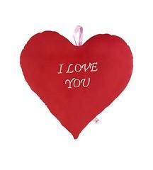 Ultra Valentine Heart Shaped I Love You Red Cushion Pillow (danishcoogan) Tags: