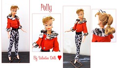 POLLY By Valentine (ModBarbieLover) Tags: polly barbie clone 1963 1964 fashion doll vintage leopard print red ponytail capri pants