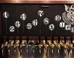 Numbered Draft Board (left side) (Night Owl Signs) Tags: chalkart chalk art chalkboard biergarten