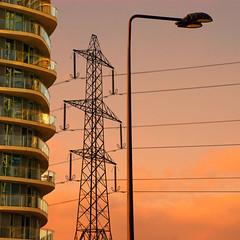 Pillar of the community (Arni J.M.) Tags: architecture building pillarofthecommunity balconies glass pylon sky streetlamp london england uk