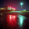 Return to the Motel (Daniel Regner) Tags: neon lights night photography daniel regner medium format 120 asa iso film square kodak ektar mamiya c330 tlr twin lens reflex epson v500 scanner motel classic retro analog vintage reflection baltimore maryland beltway arbutus route 1