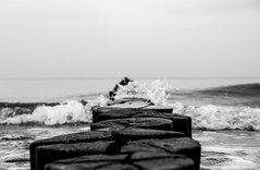 Zingst Winter II (janmalteb) Tags: deutschland germany zingst fischland darss ostsee baltic sea winter wellen waves wasser water meer ocean buhnen breakwater holz wood sky himmel natur canon eos 77d tamron 18200mm