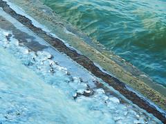 Tra acqua e ghiaccio - Between water and ice (Ola55) Tags: ola55 italy italians ice inverno winter ghiaccio gelo frost freddo cold diagonal diagonale lagotrasimeno lake lago acqua water blue blu umbria aplusphoto worldtrekker