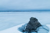 Standing in the water (thatyoungman) Tags: russia north stones lake frozen snow winter blue gray karelia travel landscape water ice