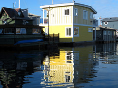 Peaceful, serene homes in Victoria Harbor. (vickilw) Tags: home victoria harbor canada water reflection 7daysofshooting week29 serene geometrysunday 6ws
