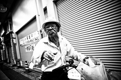 What u want..... (Victor Borst) Tags: street streetphotography streetlife reallife real realpeople asia asian asians faces face canon5dmarkii candid canon travel travelling trip traffic traveling urban urbanroots urbanjungle provoke mono monotone monochrome mankind blackandwhite bw portrait poverty povert osaka japan japanese city cityscape citylife