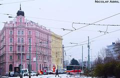 Colourful buildings in Prague (Nicolay Abril) Tags: pražkétramvaje tramvajapraha praga praha prag prague prága česko českárepublika républiquetchèque tchéquie repúblicacheca chequia czechrepublic czechia csehország csehköztársaság tschechien tschechischerepublik