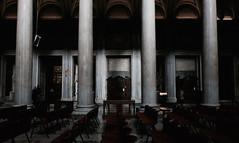 """Stabat Mater"" (#mimesi) Tags: chiesa roma sedie confessionale colonne navata sacro silenzio colore luce fujix"
