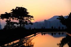 Sunset reflected (HonleyA) Tags: silhouettes reflection water sunset sky macau asia xpro2 fujifilm fujinon fuji