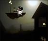 Night flight (bdira3) Tags: night house moon flying girl surreal dreamy