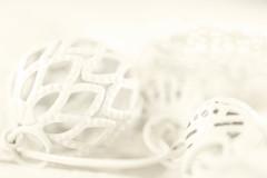 Working with Creams (haberlea) Tags: home athome macromondays creams monochrome beads metal sundaylights