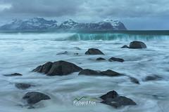 Sprayway (http://www.richardfoxphotography.com) Tags: vik vikbeach vickten lofoten beach norway lofotenislands sea ocean waves spray swell coastline sand outdoors stormy