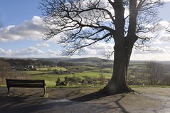 viewpoint (mark1830) Tags: bench shadow strong abbey dorset ancient saxon hilltop town