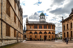 At the Sheldonian Theatre (-MikeBakker-) Tags: oxford oxfordshire oxon england uk unitedkingdom britain greatbritain travel traveling traveler travelling traveller wanderlust explore exploration exploring discover discovering discovery architecture historic british english heritage street streets streetphotography nikon nikond3100 d3100 dslr camera 1855mm lens theatre view perspective angle composition clouds cloudy sky grey color colors colorful colour colours colourful college university