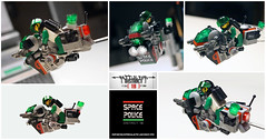 LSB2018 - Space Police II Chaser (Brixnspace) Tags: lego moc speeder district18 district 18 sp2 space police 1992 enforce classic bike