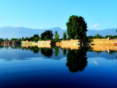 "Kashmir - in the words of Persian poet Amir Khusrau, ""If there is heaven on earth, it is this,  it is this,  it is this.."" (Vibhutius) Tags: kashmir kashmiri landscape lake incredibleindia india scenery nikon beautifulnature beautifulearth houseboat clearwater"