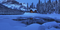 Emerald Lake at Blue Hour. (Emerald Lake, Yoho NP, BC Canada) (Sveta Imnadze) Tags: emeraldlake britishcolumbia canada yohonp winter