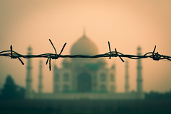 No Entry (Cardamomo Visuals) Tags: taj mahal sunset fence palace holy orange conceptual india indian muslim wonder amazing gorgeous view travel cardamomo visuals