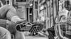 waiting for action (ralfkai41) Tags: streetphotography bokeh monochrom street warten bw schuhsohle blackwhite zug streetfotografie waiting schwarzweis train sw shoe schuh sbahn