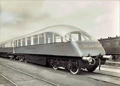 "London & North Eastern Railway - LNER The Coronation train - ""beavertail"" observation car Nr. 1719 (HISTORICAL RAILWAY IMAGES) Tags: train lner coronation observation beavertail br 1719"