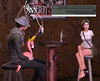 one-sided conversation (thechickwithoutarms) Tags: armless secondlife flamingo pee