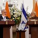 PM Netanyahu and India's PM Modi at a joint press conference in New Delhi