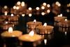Candles (Mike_Mulcahy) Tags: green art gallery candles selfie fire nz napier newzealand hawkesbay tealights bokeh fuji fujifilm xt2 1855mm