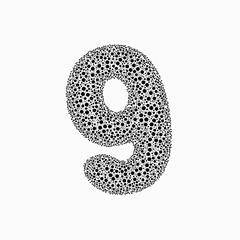 Circle Pack Typo - GeneTypo 075 (spaghetticoder77) Tags: spaghetticoder77 generative genetypo typography typeface proce55ing processing circle packing algorithm dots blur distance overlapping