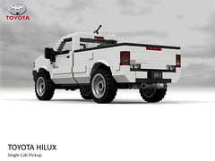Toyota Hilux AN10 Single Cab Pickup 2012 (lego911) Tags: toyota hilux an10 single cab pickup ute utility truck 4x4 offroad commercial 2012 2010s auto car moc model miniland lego lego911 ldd render cad povray japan japanese