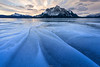 Lapping Water (Hilton Chen) Tags: winter sunrise canadianrockies landscape mountmichener snow patterns alberta lappingwater abrahamlake canada mountains leadinglines ice clouds clearwatercounty ca
