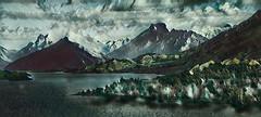 Glenorchy - New Zealand (Bobinstow2010) Tags: lake glenorchy topaz photoshop green newzealand arty