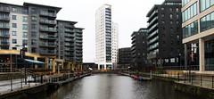 (Jamess Photography) Tags: leeds docks snow rain uk canon city colourful water wall