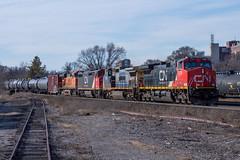 Colourful CN 396 (Joseph Bishop) Tags: cn cndundassubdivision brantford ontario trains train track tracks railfan railroad railway rail rails ic 2725 ge c449w
