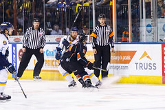 "Kansas City Mavericks vs. Toledo Walleye, January 20, 2018, Silverstein Eye Centers Arena, Independence, Missouri.  Photo: © John Howe / Howe Creative Photography, all rights reserved 2018. • <a style=""font-size:0.8em;"" href=""http://www.flickr.com/photos/134016632@N02/39839490421/"" target=""_blank"">View on Flickr</a>"