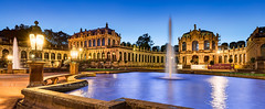 _MG_2563 - Dresden Zwinger pano (AlexDROP) Tags: 2017 dresden saxony germany deutschland travel architecture color city wideangle urban night scape canon6d ef16354lis historicalplace best iconic famous mustsee picturesque postcard hdr europe landmark panoramic