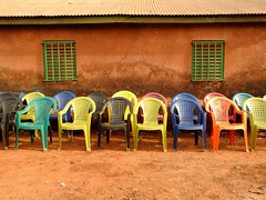 The ubiquitous plastic chair (Drew Makepeace) Tags: chair guinea conakry marriage
