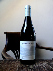 Blue Mountain Pinot Noir (knightbefore_99) Tags: wine vin vino bottle red rouge tinto rosso bluemountain 2014 pinot noir vineyard bc local canada tasty art