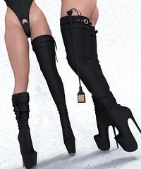 Vanilla Bae ~ Alexxis Vendor (Hopey Honi in SL) Tags: freya belleza isis slink hourglass maitreya lara boots stripable leather latex metallics